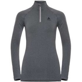 Odlo Performance Warm Turtle Neck LS Half Zip Shirt Women, grey melange/black